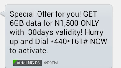 Airtel Nigeria Introduces Special Priviledge Offer: You Get 6GB Worth of Data For Just N1,500
