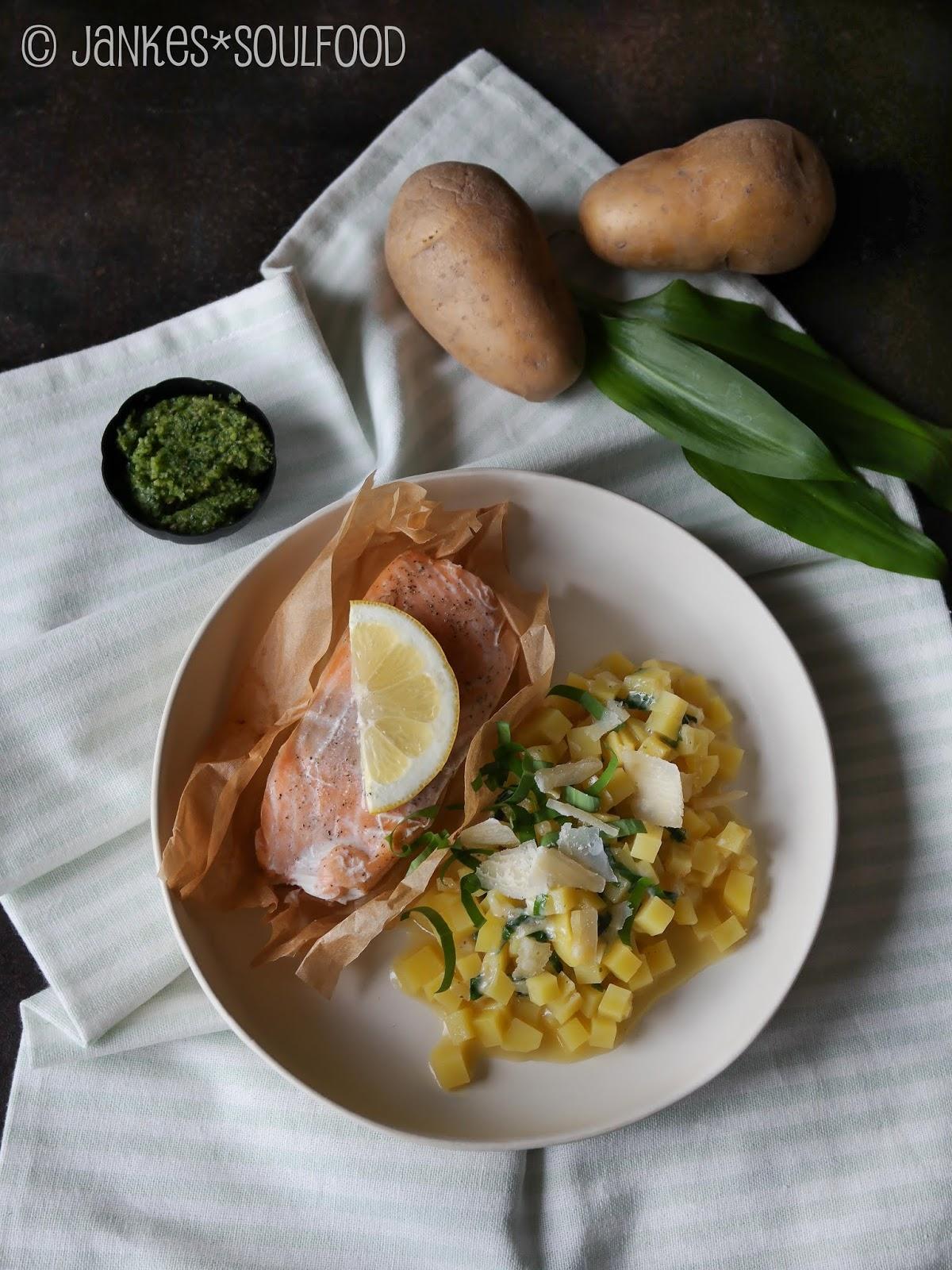 Kartoffelgemüse mit Bärlauch und Käse