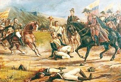 Imagen de la Batalla de Boyacá para niños a colores