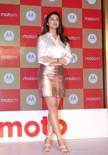 Parineeti Chopra Stills in Golden Mini Skirt at Motorola Moto M Launch  0014.jpg