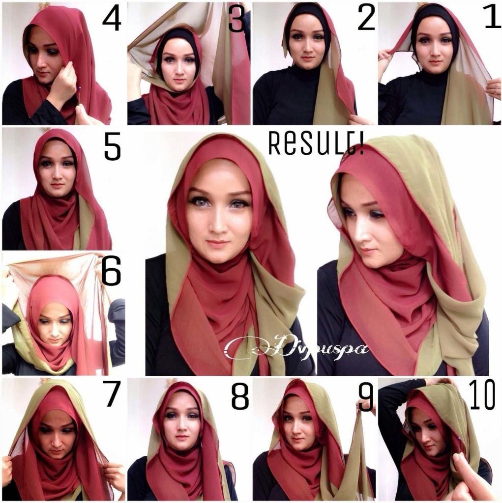15 Tutorial Cara Memakai Hijab Simple Terbaru 2017 Model HIjab