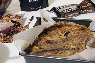 Ghirardelli Chocolate Pumpkin Pecan Brownie Recipe Pumpkin Swirl
