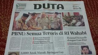 PBNU: Semua Teroris di Indonesia Wahabi