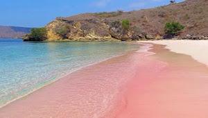 Keren, Indonesia Punya Tiga Pantai Berwarna Pink