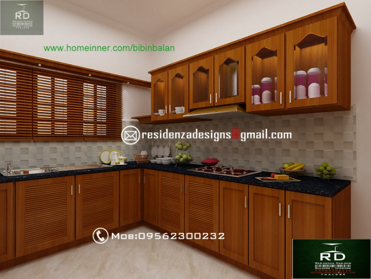 kerala home kitchen designs kerala kitchen interior designs by residenza designs 4930