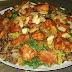 الأرز المبهر باللوز والزبيب مع الدجاج