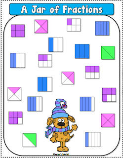 FREE Jar of Fractions dice game