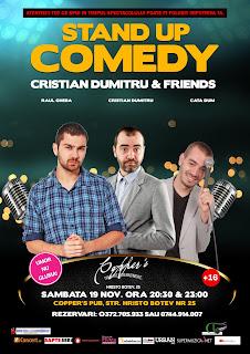 Stand-Up Comedy Sambata 19 Noiembrie Bucuresti | 2 spectacole