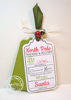 Holiday Tag-designed by Lori Tecler/Inking Aloud-stamps and dies from SugarPea Designs