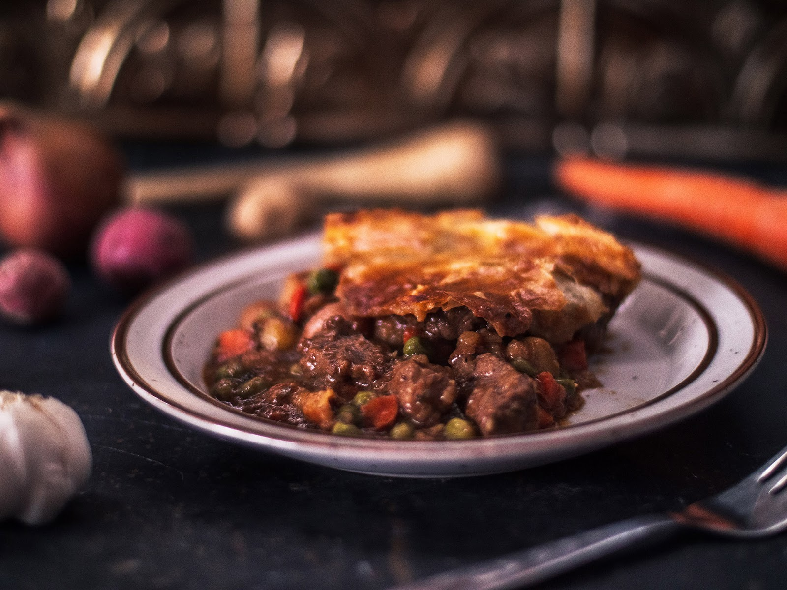 Irish Beef and Stout Pot Pie Serving | Local Food Rocks