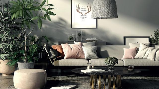 Beberapa Ide Desain Ruang Keluarga Bergaya Boho