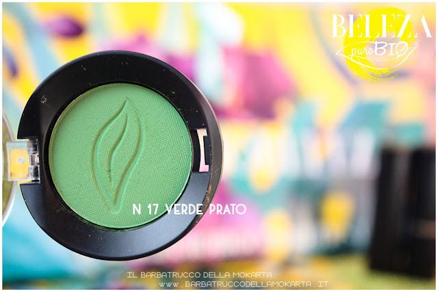 beleza purobio eyeshadow ombretti 17 verde prato recensione