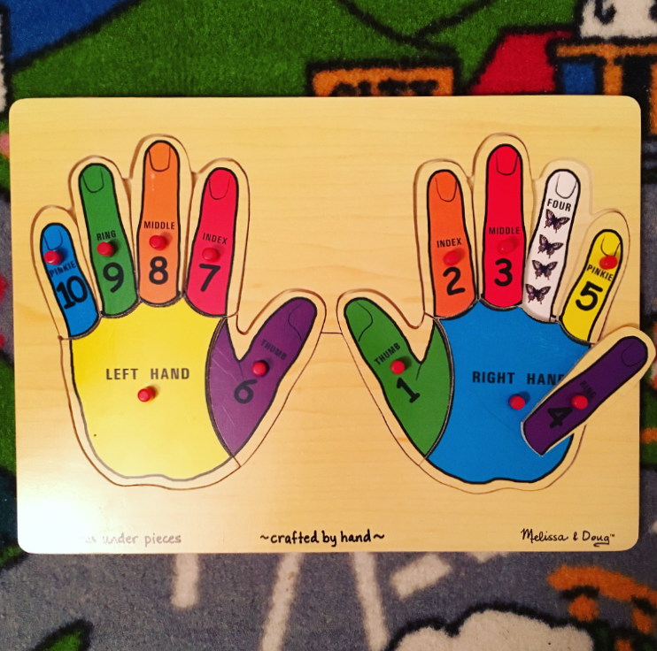 Melissa & Doug Hand Counting Puzzle