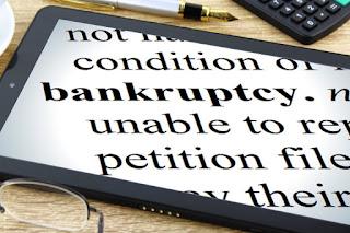 close to bankrupt