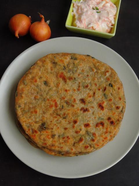 Onion Paratha, Pyaaz ka paratha