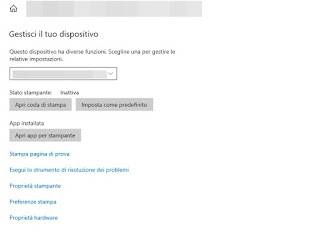 Stampante Windows 10