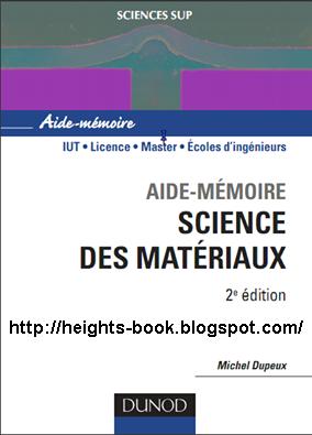 Télécharger Livre Gratuit Science des matériaux pdf