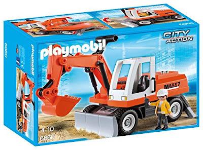 TOYS : JUGUETES - PLAYMOBIL City Action  6860 Excavadora  Producto Oficial 2016 | Edad: 4-10 años  Comprar en Amazon España