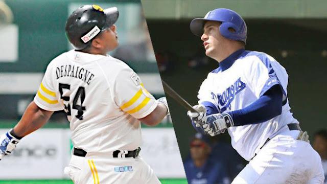 Repiten los sluggers cubanos Alfredo Despaigne y Alex Guerrero, quienes fueron líderes jonroneros en el 2017 de sus respectivas ligas