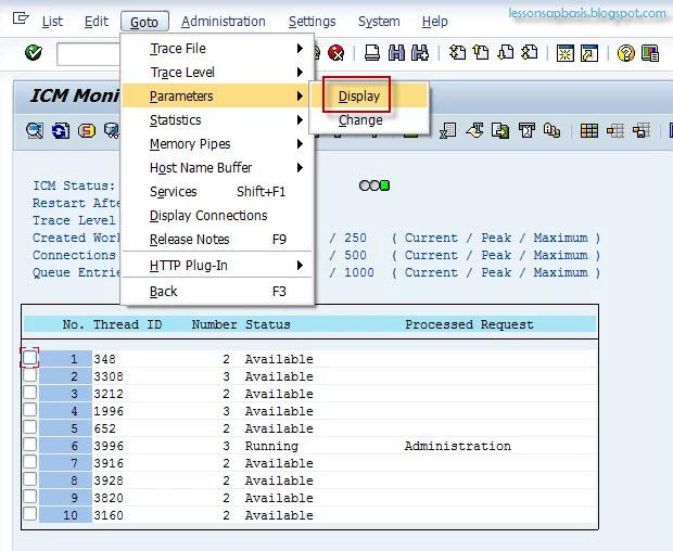Lesson SAP Basis Administration: how to configure SAP Web GUI
