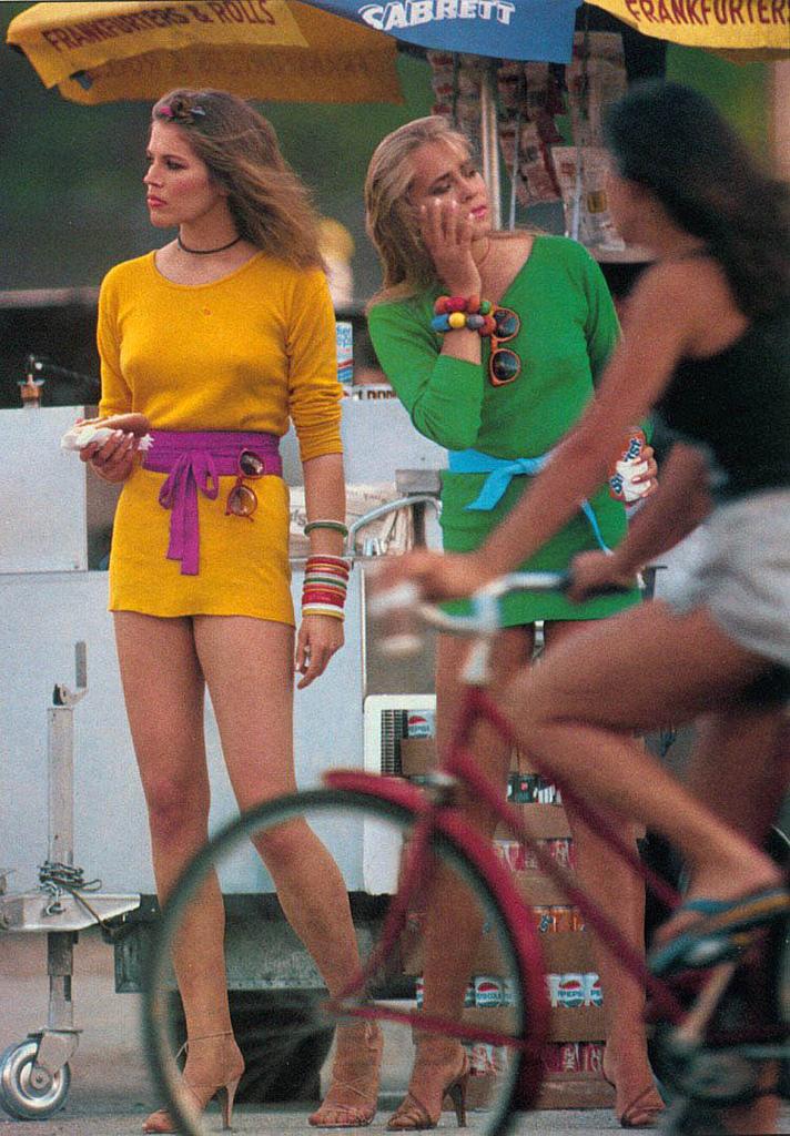 Tumblr: Vintage Photos Of Girls In Mini Skirts On Bikes