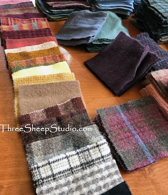 Wool Charm Bundles at ThreeSheepStudio.com  (Studio/Shop)