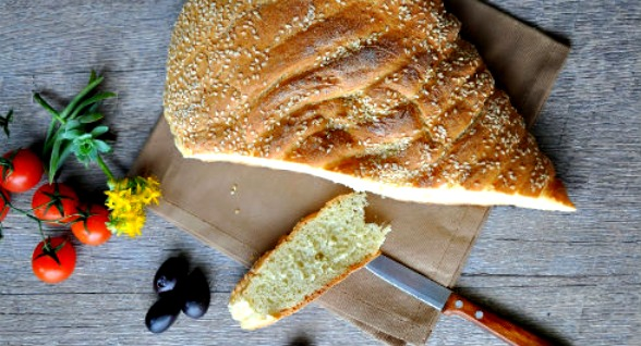 Ioanna's Notebook - Greek Lagana Bread
