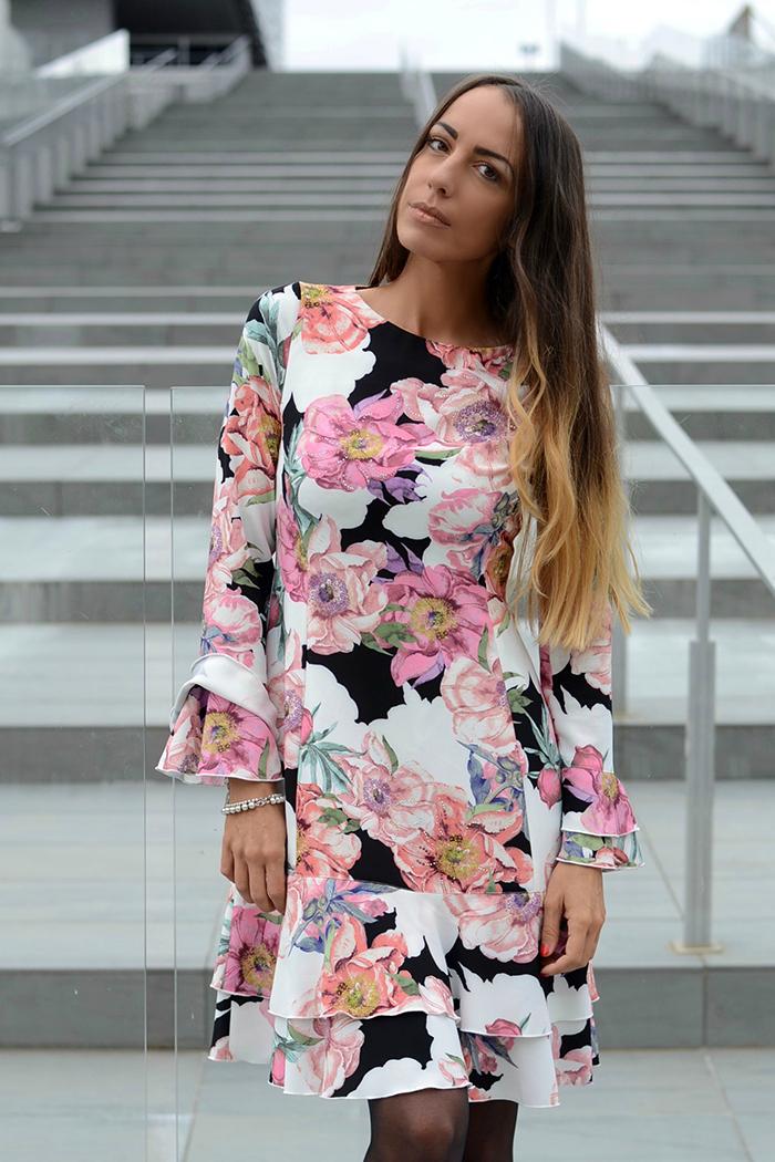 abito stampa fiori