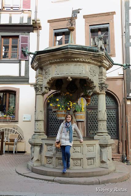 Pozo de los seis cubos de Obernai, Alsacia