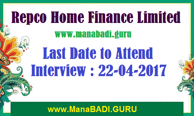 RHEL Recruitment,Repco Home Finance Limited,Credit Officers,