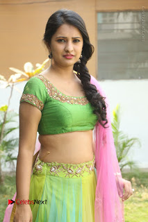 Actress Nikitha Bisht Stills in Lehenga Choli at Pochampally Ikat Art Mela Launch  0157.JPG