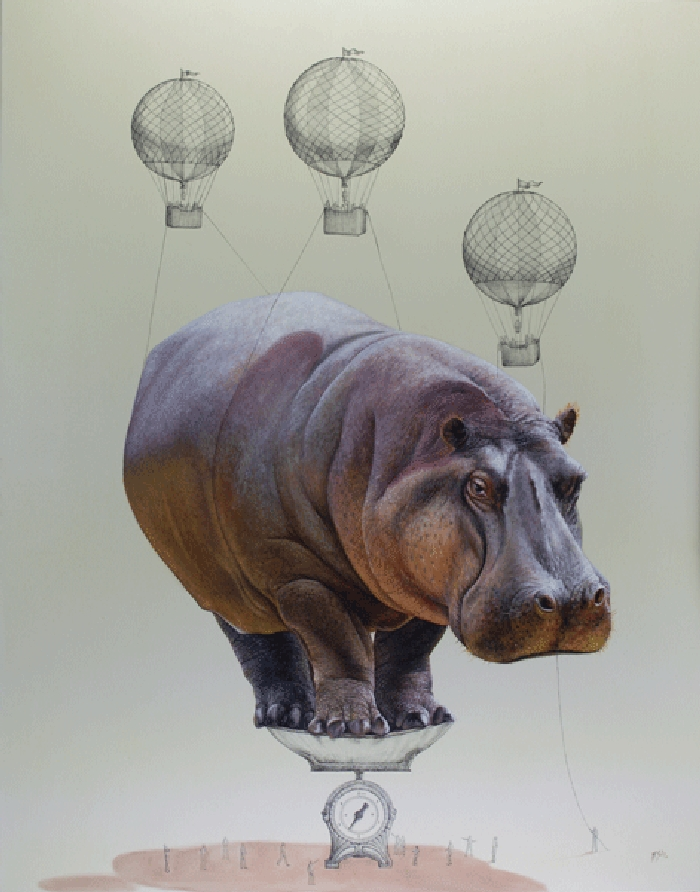 13-Healthy-Weight-Hippo-Ricardo-Solis-Surreal-Illustrations-of-Animals-in-Mid-Construction-www-designstack-co