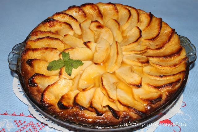 Tarta de manzana con pan de leche. Julia y sus recetas