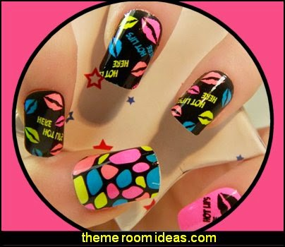 cute nail art-nail stickers colorful nails