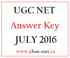 image : CBSE UGC NET July 2016 Answer Key exam held on 28.08.16 @ www.cbse-net.in