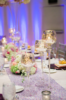 Guest Table - Orlando - Real Wedding - Joie de Vie Wedding - Rosen Shingle Creek - Kirby - Purple - Atmospheres Floral