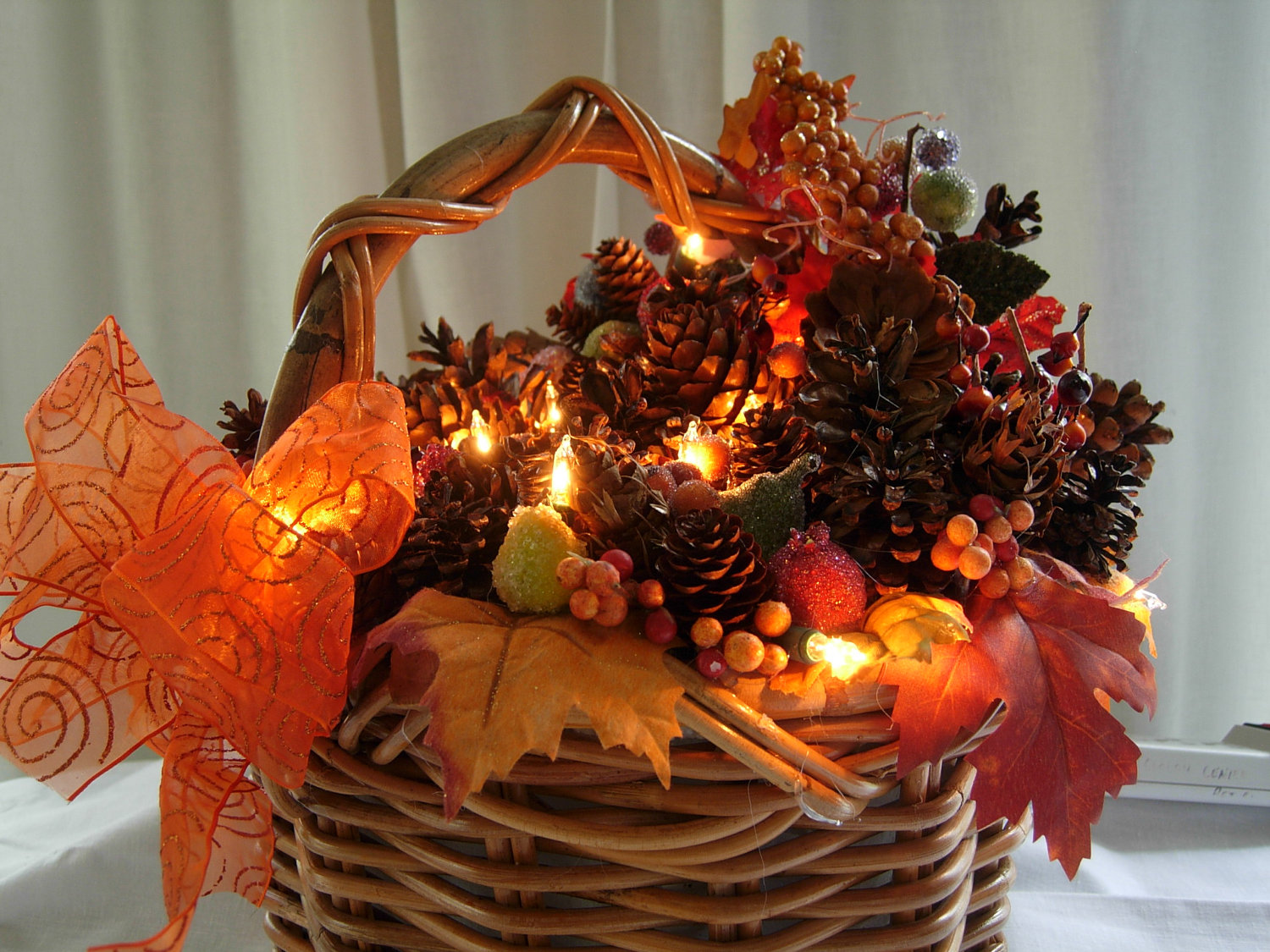 Herfst Interieur Autumn Basket Centerpieces Autumn Crafts Picture