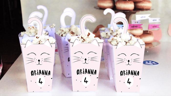 scatoline da popcorn a forma di gatto