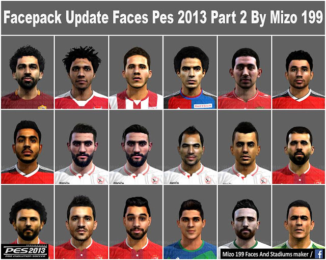 PES 2013 Facepack Update Faces part 2 By Mizo 199