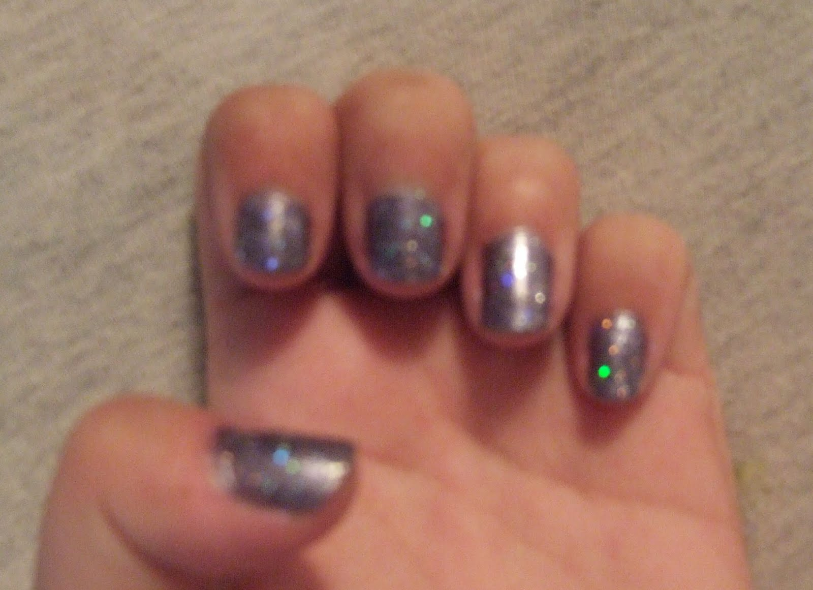 Shimmery Periwinkle Nails