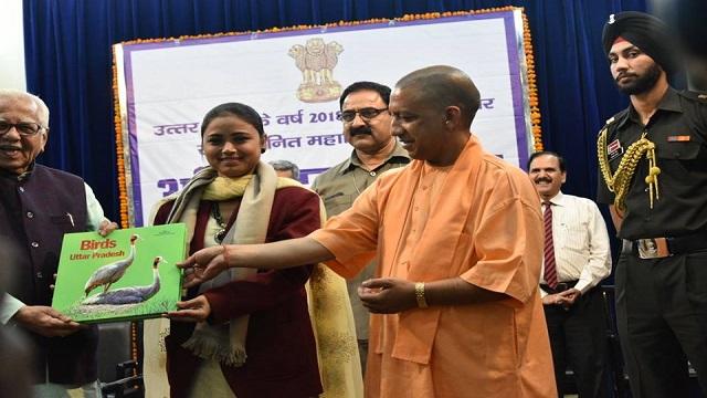 उत्तर प्रदेश के पद्मश्री पुरस्कार 2018 व वीरता पुरस्कार पाने  वालो  को  योगी सरकार ने किया सम्मानित