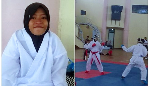 Gadis Ini Dicoret Dari Pertandingan Karate Se Jatim Gara-gara Tak Mau Lepas Jilbab