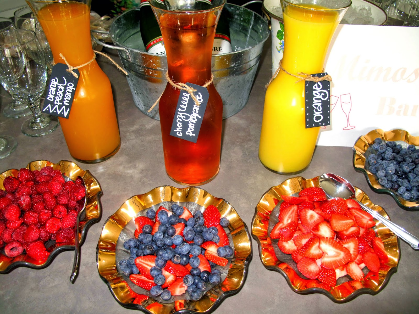 For the Love of Character: Kim\'s Wedding Shower Brunch!