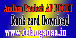 Andhra Pradesh AP PECET Rank Card APPECET 2017 Rankcard Download
