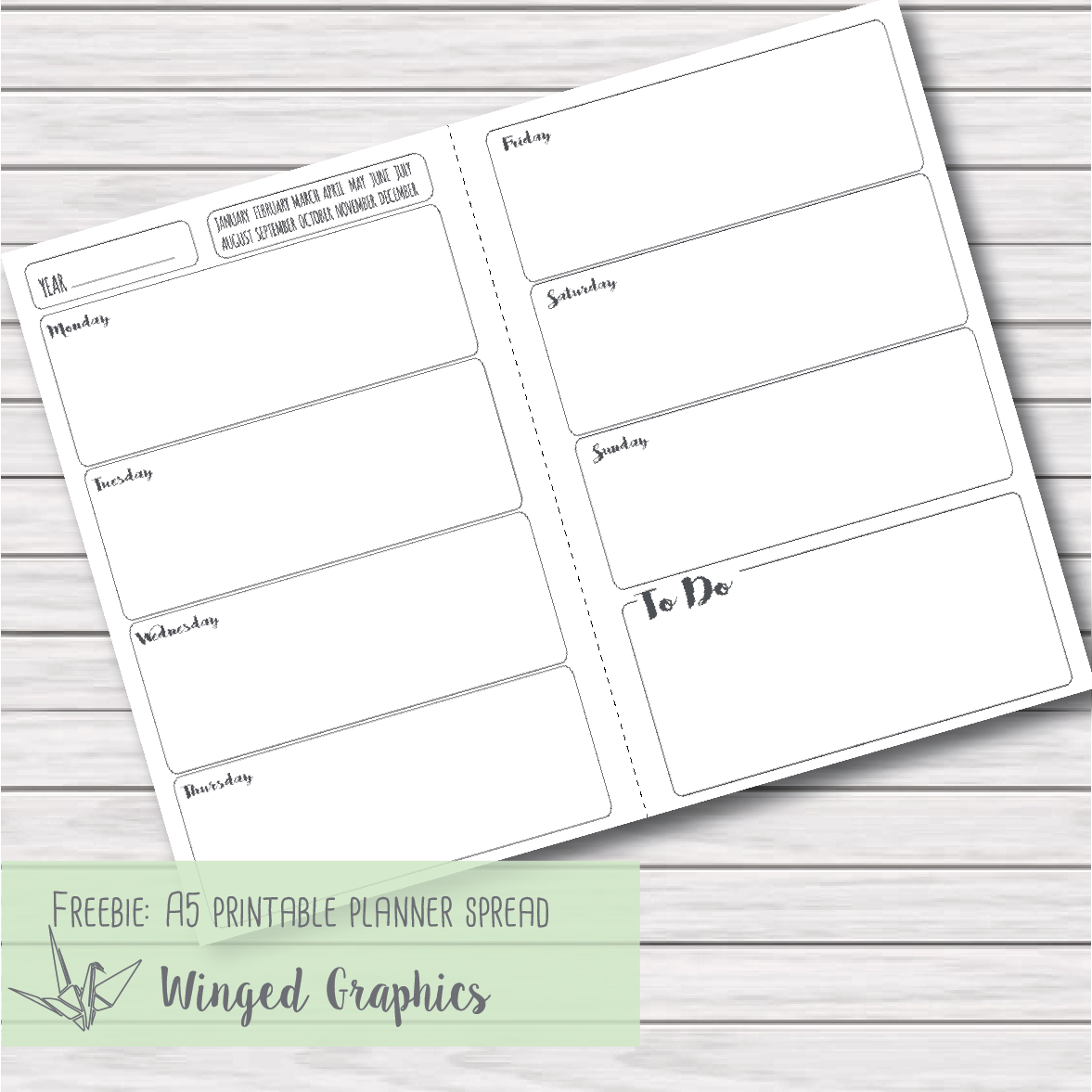 Old Fashioned image for freebie planner