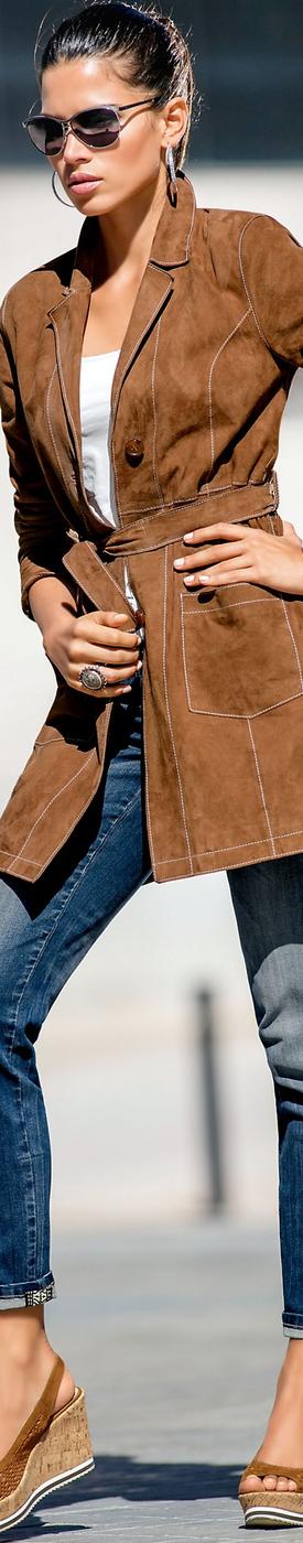 MADELEINE Leather Coat