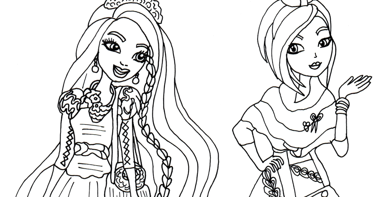 Free Printable Ever After High Coloring Pages: Holly and