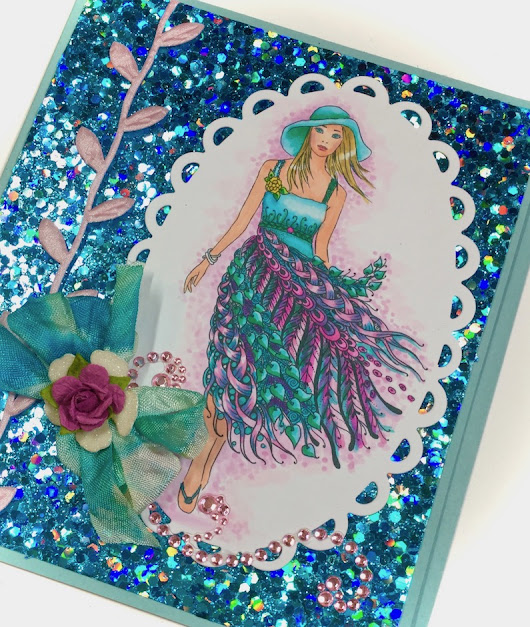 Fairy Tangles All Dressed Up {Cardz 4 Galz Glad Rags}