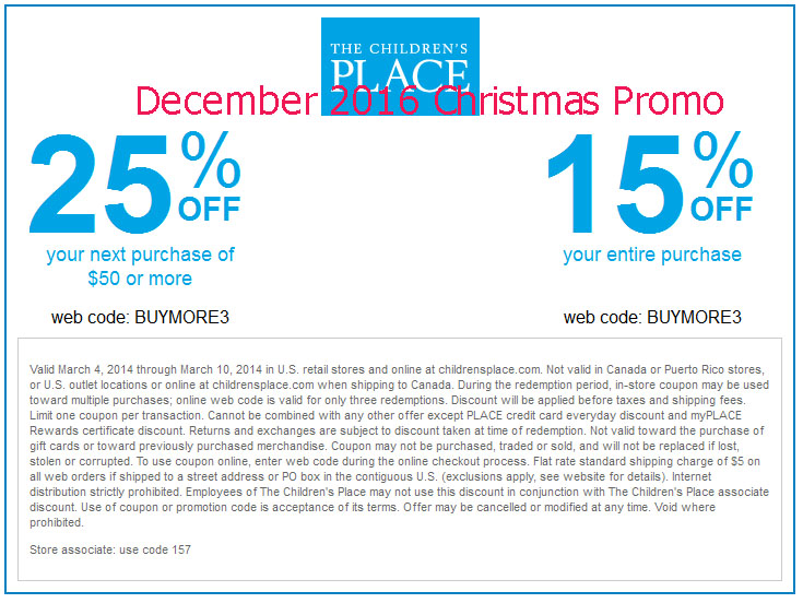 childrens place coupons 2018 printable