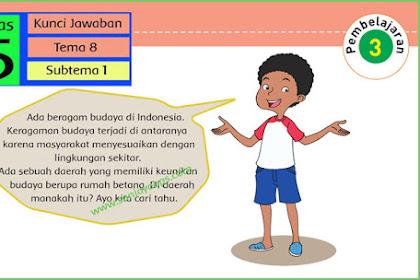 Kunci Jawaban Tematik Kelas 5 Tema 8 Halaman 16, 17, 23, 26